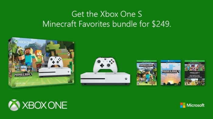 Xbox One S Minecraft Favourites Bundle Is Available For $249